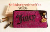Ms contracted velvet purse wallet zero wallet key package long multicolor