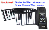 Newest ! 88 Keys Portable Hand Roll Piano with Tenuto, built-in Speaker,  MIDI , Mini Soft & Real feeling, HK Post free shipping