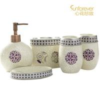 National trend bathroom  set cassina wash set five pieces set of bathroom elegant gift set wedding gift