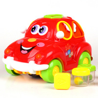 Department of music 516 fruit car yakuchinone electric cartoon toy car fruit digital letter shape