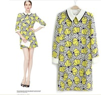 2013 autumn new Europe and the United long  sleeve dress