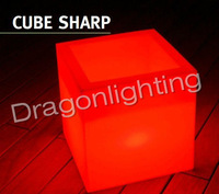 RGB remote control PE luminous furniture  LED cube PEluminous furniture