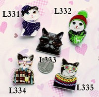 MIN MIX ORDER IS $10 Good Quality  acrylic broochs  2013 new arrival HARAJUKU badge  Brooch accessories cat  pin christmas gift