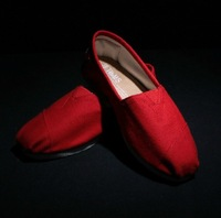 solid color flat shoes red canvas shoes lazy shoes LOVERS flat shoes