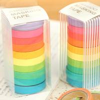free shipping korea stationery 10 colors album japanses washi sticky diy adhesive handmade masking tape decoration sticker label