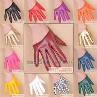Women's Gloves Half Finger Leather Glove Prom Party Gloves Fashion Half palm PU Short Glove For Female