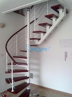 Rotation stair sinoca steel-wood solid wood interior stair household