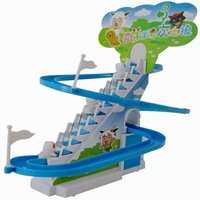 Large slide stage stair electric music catladder toy rotary slide