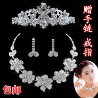 The bride accessories small necklace wedding jewellery wedding accessories hair accessory three pieces set 93
