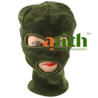 3 Holes Camouflage Military Soft Caddice Full Face Mask