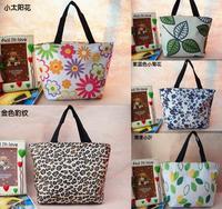 Korean version NEW Small canvas bag,women lunch handbag,portable PVC box bag,stripe oxford fabric handbags,Waterproof bag