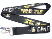 Free Shipping Black Star Wars Neck Lanyard Charm ID holders  for party