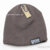 Thickening big both sides knitted hat outdoor skiing hat winter thermal men's hat for man