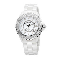 Quality ceramic women's quartz watch luxury vintage rhinestone gift table calendar
