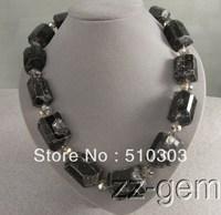 Natural 22x26MM-26x30MM Black Tourmaline Necklace