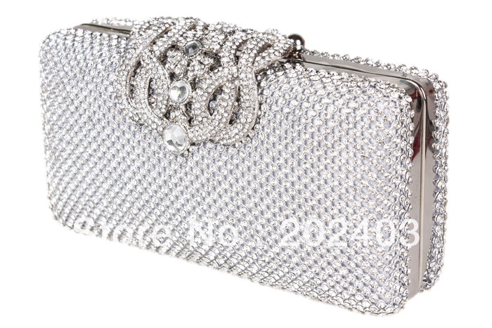 AliExpress.com Product - Hot Fashion Lady Banquet Crystal Evening Purse Bridal Party Clutch bag Handbag Silver