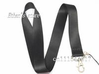Free Shipping  Black Blank  Key Lanyard  for Customized LOGO Printing Charm neck strap