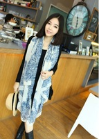 2014 fashion increased a new spring and summer trendy Silk Georgette Silk Scarf Shawl lattice Chiffon scraf for women