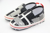 Free shipping High quality kid's shoes newborn baby boy white stripes shoes baby first walkers shoes Wholesale retail