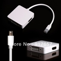 3 in 1 Mini DP DisplayPort to HDMI+DVI+DP Cable for Apple Macbook iMac