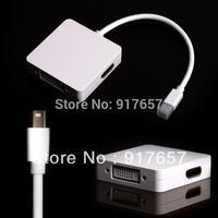 3 in 1 Mini DP DisplayPort to HDMI+DVI+DP Cable for Apple Macbook iMac,Cable adaptor