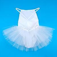 New 2014 Brand New Polyester Dance Dress Gymnastic Ballet  Dress with Leotard Straps Tutu 3-4 Yrs