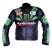 Kawasaki KAWASAKI automobile race motorcycle clothing motorcycle clothing 4wd PU clothing