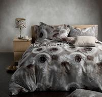 Free Shipping,home textile queen/king comforter dandelion modern pattern 100% cotton sanding 4pc bedding sets quilt/duvet covers