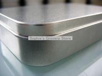 Matte Silver Metal Rectangular Tin, Tool Box Card Box Storage Cartridge Box 140004