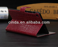Croco wallet Stand leather Case For google Nexus 7 2 ii 2nd with Card Slots and Money Pocket+FILM