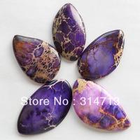(Min.order 10$ mix)5Pcs Purple Sea Sediment Jasper CAB CABOCHON
