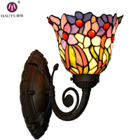 Wall Lamp/Wall Lights[HAUTY] 8 inch Tiffany lamp traditional hand soldering stained glass lampshade art lighting