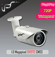 IPS Newest Bullet IP Cameras 1/4 inch 1.0 Megapixel OV9712 CMOS Support Video Surveillance Systems with POE P2P(IPS-EO1311)