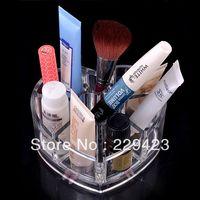Free shipping 9cmx 11.5cm x5.7cm Fashion Clear Acrylic Crystal Cosmetic  Makeup Case Organizer Holder jewelry Storage Box Gift