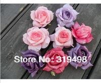 100pcs 7cm PE Foam Artificial gold powder Retro Style Rose Camellia Flower Head  Wedding Christmas Party Decoration