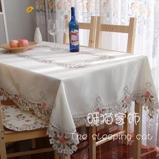 Cloth rustic fashion lace table cloth round table tablecloth dining table cloth chair cover table cloth peony