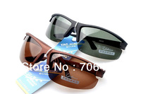 Free dropshipping New 2013 Brand Desgin Fashion Sports Polarized Glasses Men Dress outdoor Fishing Sunglasses PS125
