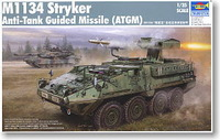 Trumpeter tank assembled Model 1/35 M1134 Stryker anti-tank missile launchers 00399 Military model toys 440pcs 21cm
