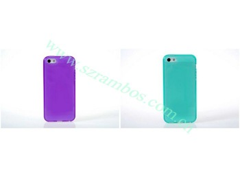 Frosting Crystal Gel Case Soft Matte Mobile Phone Protector Cover for iPhone 5C, 300pcs/lot free shipping