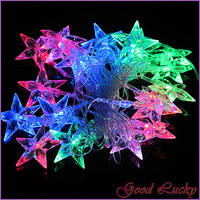 5M 20 LED Five-pointed Star Shape RGB Fairy String Lights For Party 220V New ZWQ10137