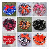 2013 new summer shorts Baby girl's Fashion Layer Briefs Bowknot lace panties satin underwear 12 pcs lot KP1022