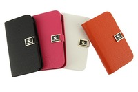 4Color,High Quality Make Mate 100% Real cowhide Leather case cover for HTC T328W Desire V/Desire X T328e,Free shipping