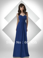 ER6105 Latest Long Sweetheart Royal Blue Chiffon Bridesmaid Dresses