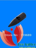 Free shipping Tattoo needle Black cap 100 pieces single needle cap Suitable for 1,2,3R tattoo needle tips cup