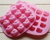 Supply silicone mold non-stick easy demoulding 16 even KT KT chocolate ice mold shape