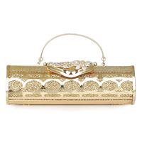 Q02t diamond cutout metal shell glitter handbag evening bag women's bags