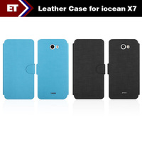 Special Leather Case for iOcean X7 Quad Core Smartphone Black/Blue