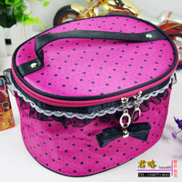 Oval 260 big lace bow make-up kit laciness fashion storage bag