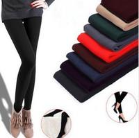 2014 New arrival women's velvet fashion winter warm leggings elastic 9 colors wholesale&retail free shipping LL002