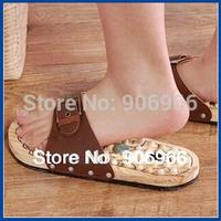 Wooden foot massage slippers cobblestone Acupuncture Reflexology massager foot slippersFree shipping Best selling